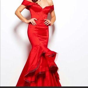 Red Mac Duggal Dress